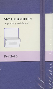 portfolio Moleskine petit format violet