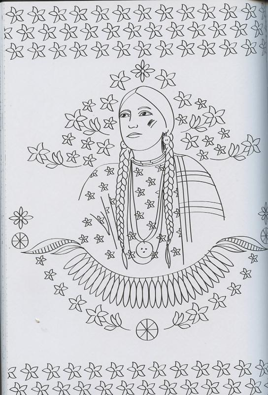 Coloriage Anti Stress Indien.Indiens D Amerique 100 Coloriages Anti Stress Mona Lisait