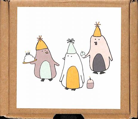cartes postales & enveloppes anniversaire pingouins