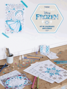 Atelier art thérapie reine des neiges