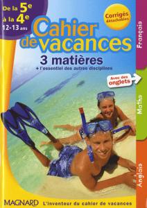 Cahier de vacances 3 matières de la 5e à la 4e