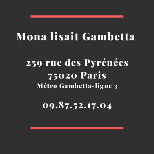Adresse librairie Mona lisait Gambetta 75020 Paris