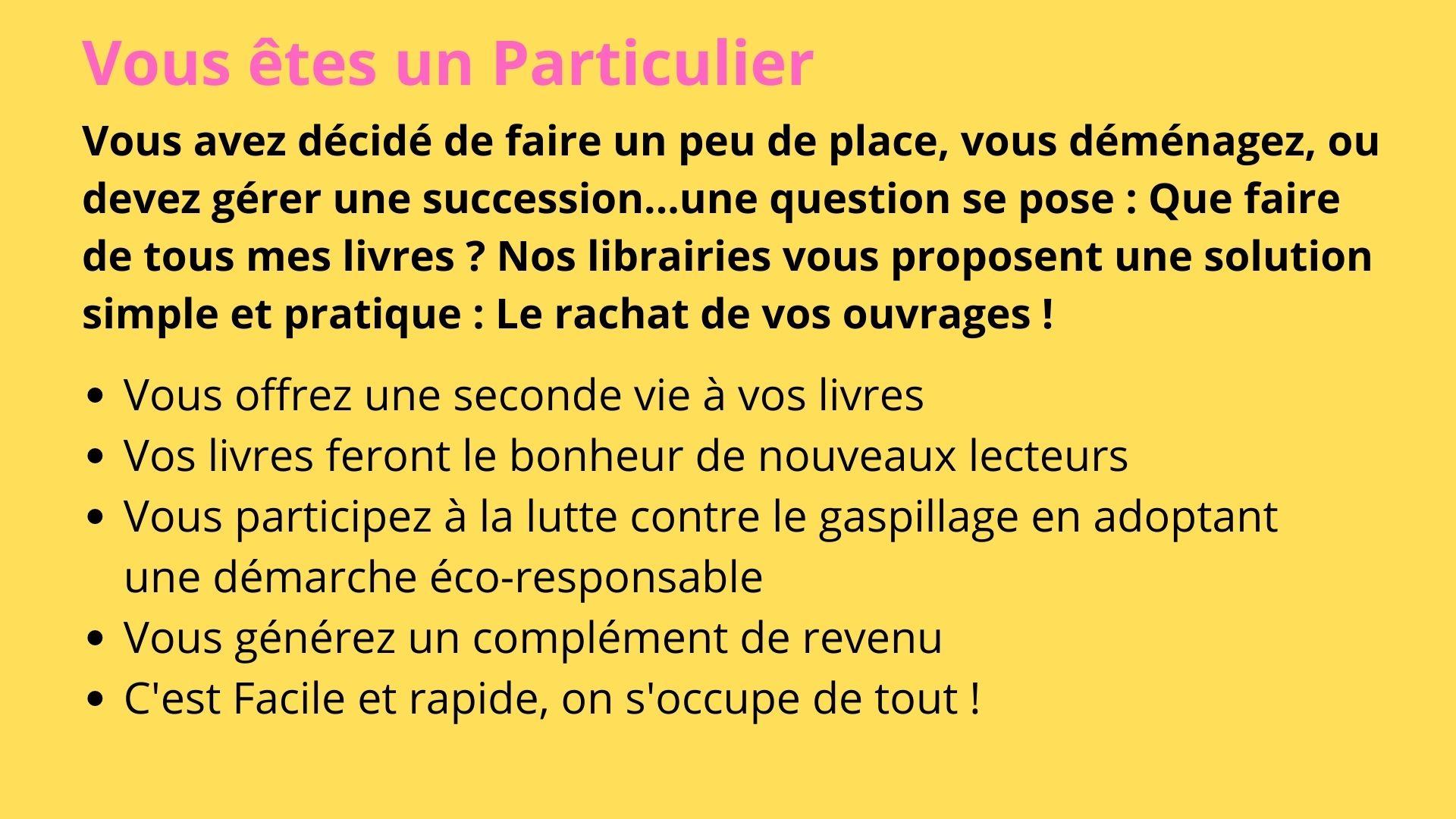 Vendez nous vos livres